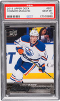 Hockey Cards:Singles (1970-Now), 2015 Upper Deck Young Guns Connor McDavid #201 Gem Mint 10....