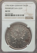 German States:Frankfurt am Main, German States: Frankfurt. Free City Taler 1796-HGBH AU53 NGC,...