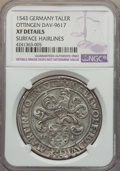 German States:Ottingen, German States: Ottingen. Karl Wolfgang Ludwig XV & Martin Taler 1543 XF Details (Surface Hairlines) NGC,...