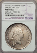 German States:Saxony, German States: Saxony. Friedrich August III Taler 1764-EDC XF Details (Surface Hairlines) NGC,...