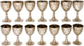 Music Memorabilia:Memorabilia, A Connie Francis Set of Corbell & Co. Silver-Plated WineGoblets, Circa 1960s....