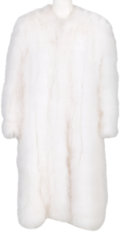 Music Memorabilia:Costumes, A Connie Francis White Ostrich Feather Coat, 1970s....