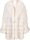 Music Memorabilia:Costumes, A Connie Francis White Fur Coat, 1960s....