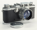 Sculpture, Leica IIIg Rangefinder Camera with leather case, German, 1946, No. 422359, with Summitar f=5cm 1:2 lens No. 784887. ...