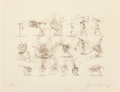 Prints & Multiples, Jean Tinguely (1925-1991). Reflexion, 1972. Etching. 13-3/4 x 18-3/4 inches (34.9 x 47.6 cm) (image). 19 x 26 inches (48...