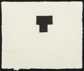 Fine Art - Work on Paper:Print, Eduardo Chillida (1924-2002). Untitled. Screenprint with embossing. 9 x 10 inches (22.9 x 25.4 cm) (sheet). Ed. 5/50. Si...