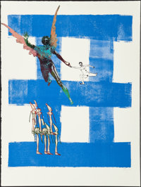 Nancy Spero (1926-2009) Airborne, from Exit 8, 1998 Mixed media on Somerset paper 29-5