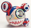 General Americana, Takashi Murakami (b. 1962). Mr. Dob (Red & Blue)(Original Edition), 2016. Vinyl toy. 9-1/4 x 10-3/4 inches (23.5 x27.3...