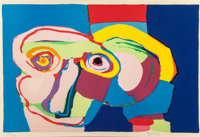 Karel Appel (1921-2006) Dream-Colored Head, 1970 Lithograph in colors 28 x 42 inches (71.1 x 106