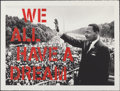 Fine Art - Work on Paper:Print, Mr. Brainwash (b. 1966). We All Have A Dream (Red Edition), 2017. Screenprint in colors. 35 x 47 inches (88.9 x 119.4 cm...