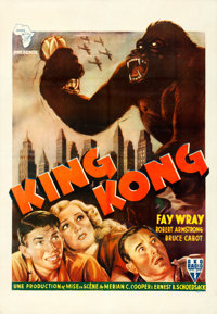 "King Kong (RKO, R-1950). French North African One Sheet (27.5"" X 40"")"