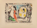Fine Art - Work on Paper:Print, Marc Chagall (1887-1985). One plate, from Derrière lemiroir, 1964. Lithograph in colors on Arches paper. 13-1/2 x1...