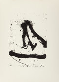 Fine Art - Work on Paper:Print, Robert Motherwell (1915-1991). Untitled, from Beside theSea series, 1966. Lithograph on Rives BFK paper. 18-3/4 x 1...