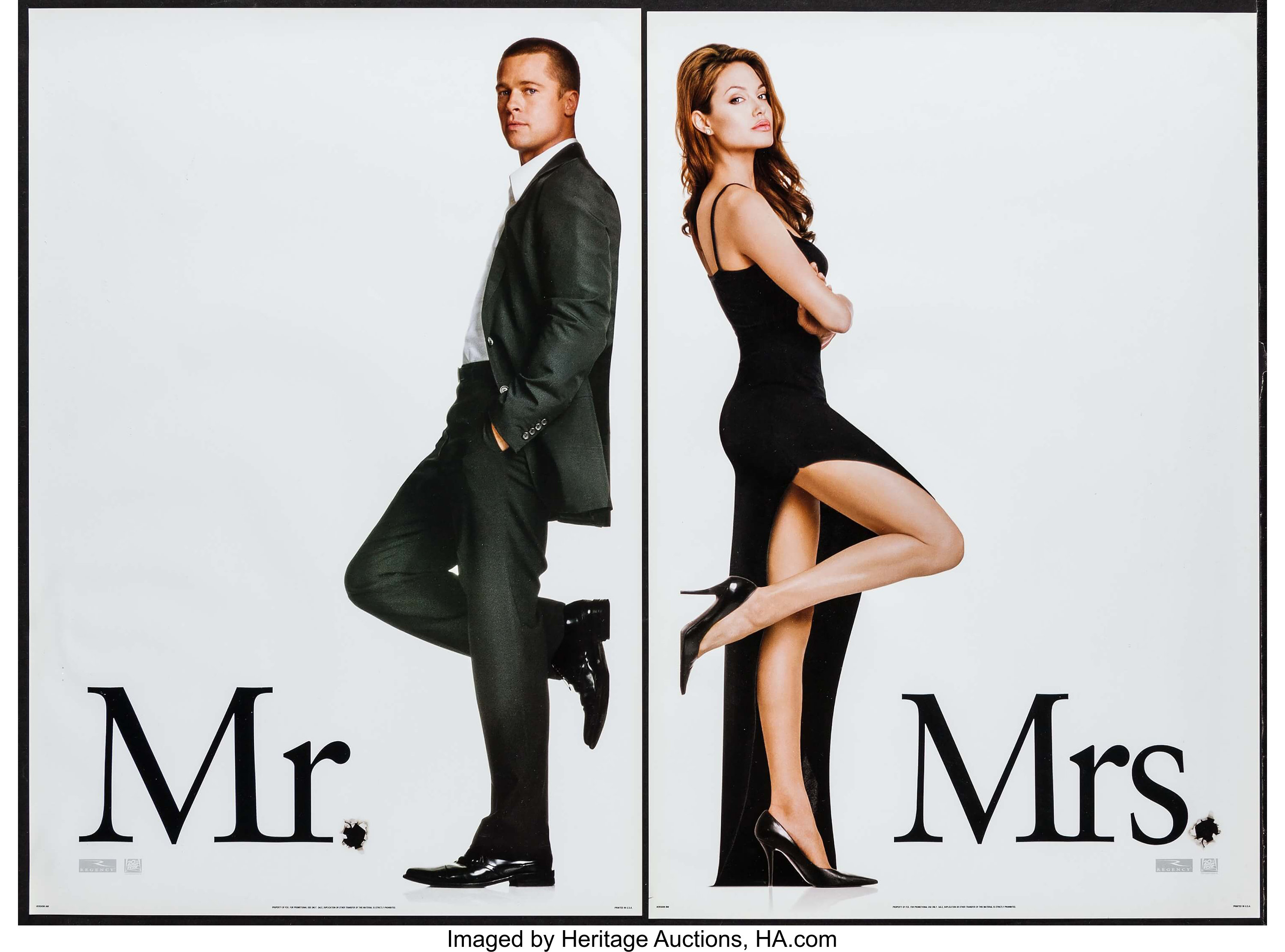 Mr Mrs Smith 20th Century Fox 2005 Mini Posters 2 13 5 Lot 51322 Heritage Auctions