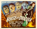 "Movie Posters:Horror, House of Dracula (Universal, 1945). Half Sheet (22"" X 28"").. ..."