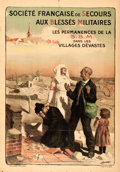 "Movie Posters:War, World War I Propaganda (c. 1918). French Half Grande (32.5"" X 47"")""Société de Secours aux blessés militaires."". ..."
