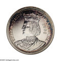 1893 25C Isabella Quarter PR55 ANACS. Numerous scattered hairlines and light rubbing on the highest points are visible o...
