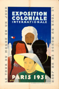 "Movie Posters:Miscellaneous, Paris Colonial Exposition (1931). French Half Grande (31.5"" X47.5"") Desmuere Artwork.. ..."