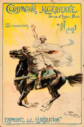 "Movie Posters:War, World War I Propaganda (1918). French Half Grande (31.5"" X 46.5"")""Compagnie Algerienne,"" Maurice Romberg Artwork.. ..."