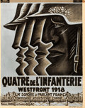"Movie Posters:War, Westfront 1918 (MGM, 1930). Pre-War Belgian (24"" X 30.25"").. ..."