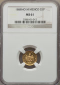 Mexico, Mexico: Republic gold Peso 1888 Mo-M MS61 NGC,...