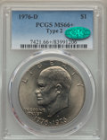 Eisenhower Dollars, 1976-D $1 Type Two MS66+ PCGS. CAC. PCGS Population: (928/28 and 18/1+). NGC Census: (513/20 and 0/0+). CDN: $45 Whsle. Bid...