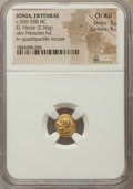 Ancients:Greek, Ancients: IONIA. Erythrae. Ca. 550-500 BC. EL sixth stater or hecte(2.56 gm). NGC Choice AU 3/5 - 4/5....