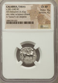 Ancients:Greek, Ancients: CALABRIA. Tarentum. Ca. 272-240 BC. AR stater or didrachm(6.43 gm). NGC Choice XF 4/5 - 4/5....