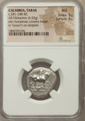 Ancients:Greek, Ancients: CALABRIA. Tarentum. Ca. 272-240 BC. AR stater or didrachm(6.52 gm). NGC AU 3/5 - 4/5....