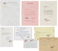 Music Memorabilia:Documents, A Connie Francis Large Collection of Letters Received fromCelebrities, 1960s-2000s....
