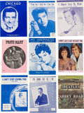 Music Memorabilia:Documents, A Connie Francis Large Collection of Personally-Used Sheet Music,1950s-1990s.... (Total: 2 Items)