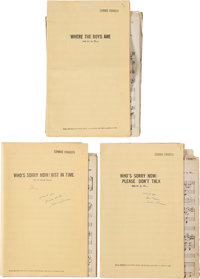 A Connie Francis Group of Music Scores from Her Huge Hit Songs 'Where The Boys Are' and 'Who's Sorry Now,' 1960s