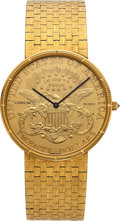 Timepieces:Wristwatch, Corum Twenty Dollar Gold Coin Wristwatch. ...
