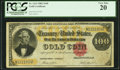 Large Size:Gold Certificates, Fr. 1214 $100 1882 Gold Certificate PCGS Very Fine 20.. ...