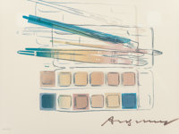Andy Warhol (1928-1987) Watercolor Paint Kit with Brushes, 1982 Offset lithograph in colors on Carni