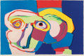 Prints & Multiples, Karel Appel (1921-2006). Dream-Colored Head, 1970. Lithograph in colors on wove paper. 28 x 42 inches (71.1 x 106.7 cm) ...