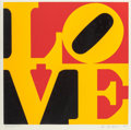 Fine Art - Work on Paper:Print, Robert Indiana (b. 1928). German LOVE, 1968. Screenprint incolors on wove paper. 22 x 22 inches (55.9 x 55.9 cm) (image...