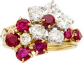 Estate Jewelry:Rings, Diamond, Ruby, Platinum, Gold Ring, Van Cleef & Arpels. ...