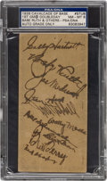 Baseball Collectibles:Tickets, 1939 Hall of Fame Grand Opening Baseball Game Ticket Signed by BabeRuth & Others, PSA/DNA NM-MT 8....