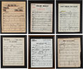Music Memorabilia:Recordings, A Connie Francis Large Collection of Framed Music Scores,1950s-2000s.... (Total: 2 Items)