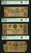 Obsoletes By State:Ohio, Cincinnati, OH - Lot of 3 Commercial Bank of Cincinnati NotesAssociated with the Cincinnati Commercial Agency in St. Louis....(Total: 3 notes)