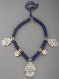 Tribal Art, A Tunisian Silver and Glass Bead Necklace...
