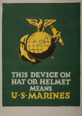 Fine Art - Work on Paper:Print, Unknown Artist (20th Century). U.S. Marines. Lithograph incolors. 40-1/2 x 27-1/2 inches (102.9 x 69.9 cm) (sheet). ...