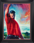 "Golf Collectibles:Art, Circa 2000 Tiger Woods Signed ""Tiger Roars"" Serigraph by Carlo Beninati, PSA/DNA Gem Mint 10. ..."