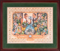 Football Collectibles:Others, 2001 Green Bay Packers Super Bowl I Champions Lithograph Signed by 34....