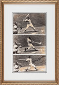 Baseball Collectibles:Photos, Early 1990's Mickey Mantle Signed Triple Exposure Photograph....