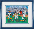 Baseball Collectibles:Others, 1994 New York Yankees Greats Multi-Signed Warner Bros. Display....