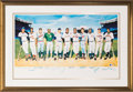 Baseball Collectibles:Others, 1988 500 Home Run Club Multi-Signed Ron Lewis Lithograph Artist's Proof. ...