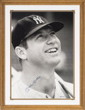 "Baseball Collectibles:Photos, 1992 Mickey Mantle Signed ""Glory Days"" Photograph by Neil ..."
