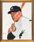 Baseball Collectibles:Others, Circa 1990 Mickey Mantle Signed Giclee by Robert Stephen Simon....